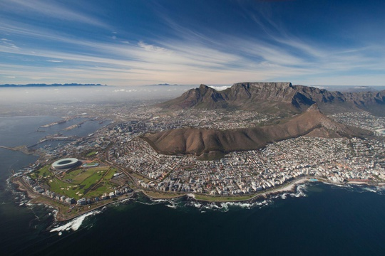 Ariel view of Cape Town